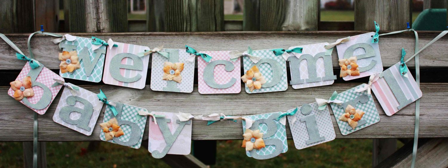 Exceptionnel Baby Girl Shower Decoration   Welcome Baby Banner. $82.50, Via Etsy.