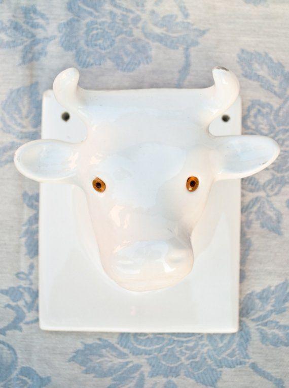 ceramic cow head hook