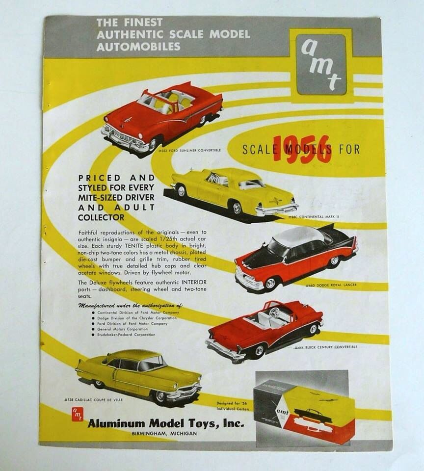 1956 AMT New Model Kit Ad | Scale, Detail and Dioramas | Pinterest ...