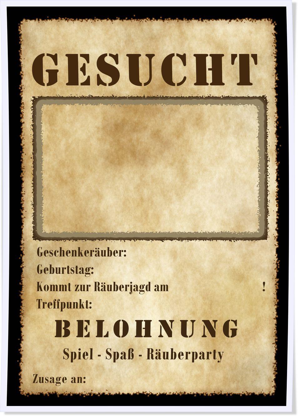 #Einladung Für Einen #Räubergeburtstag Zum Kostenlosen Download #Kinderparty  #Kindergeburtstag #Räuber