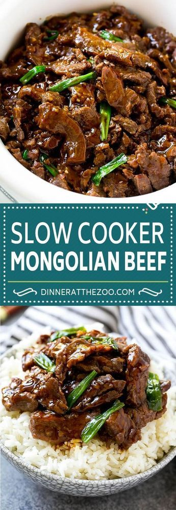 Slow Cooker Mongolian Beef - Dinner at the Zoo