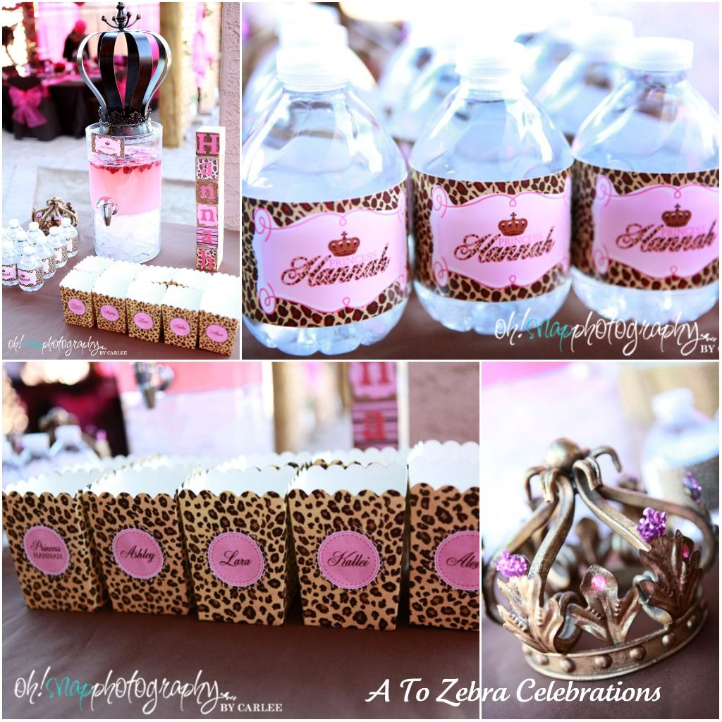 Purple Leopard Print Baby Shower Decorations Decoration For Home
