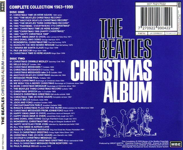 The Beatles Christmas Album.Beatles Cd The Ultimate Christmas Album The Beatles