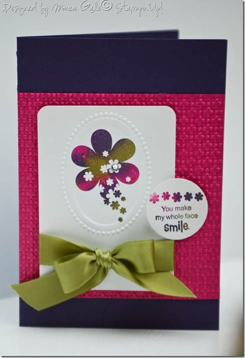 Card Making Ideas And Techniques Part - 46: Baby Wipe Technique. Sprinkled Expressions In Elegant Eggplant, Melon Mambo  And Old Olive · CardmakingBirthday ...