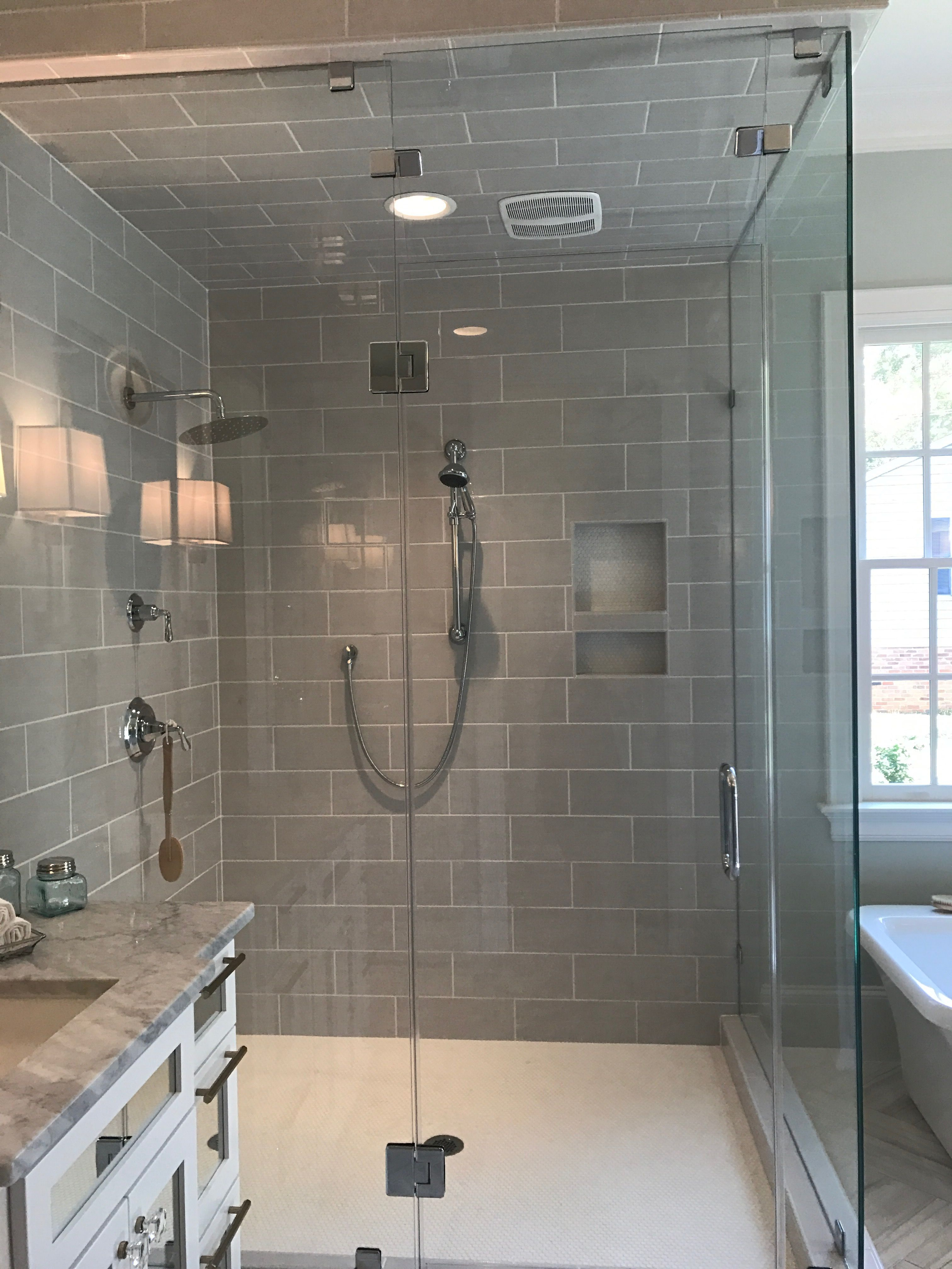 Nite The Exhaust Fan Inside The Shower Master Bathroom Shower Master Bath Shower Glass Shower Doors