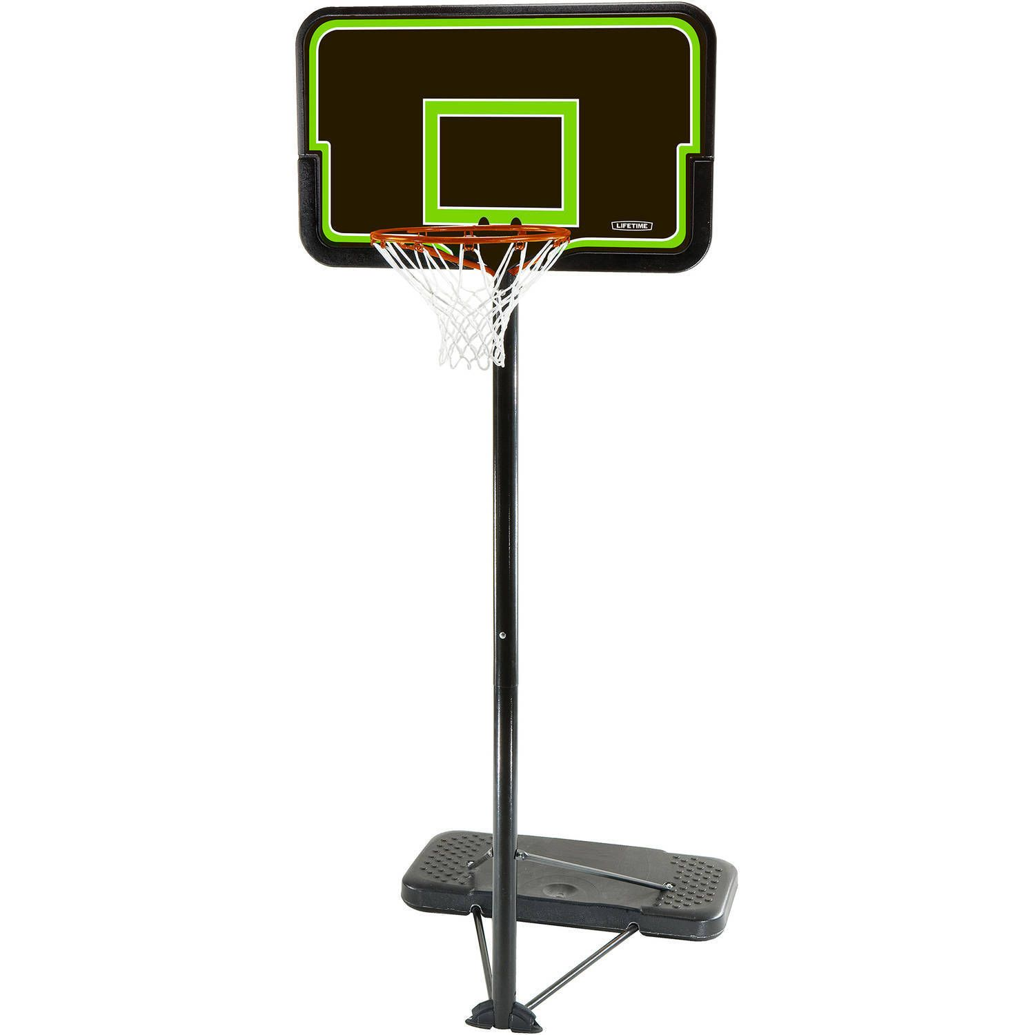 basketball system 48 shatterproof portable one hand height