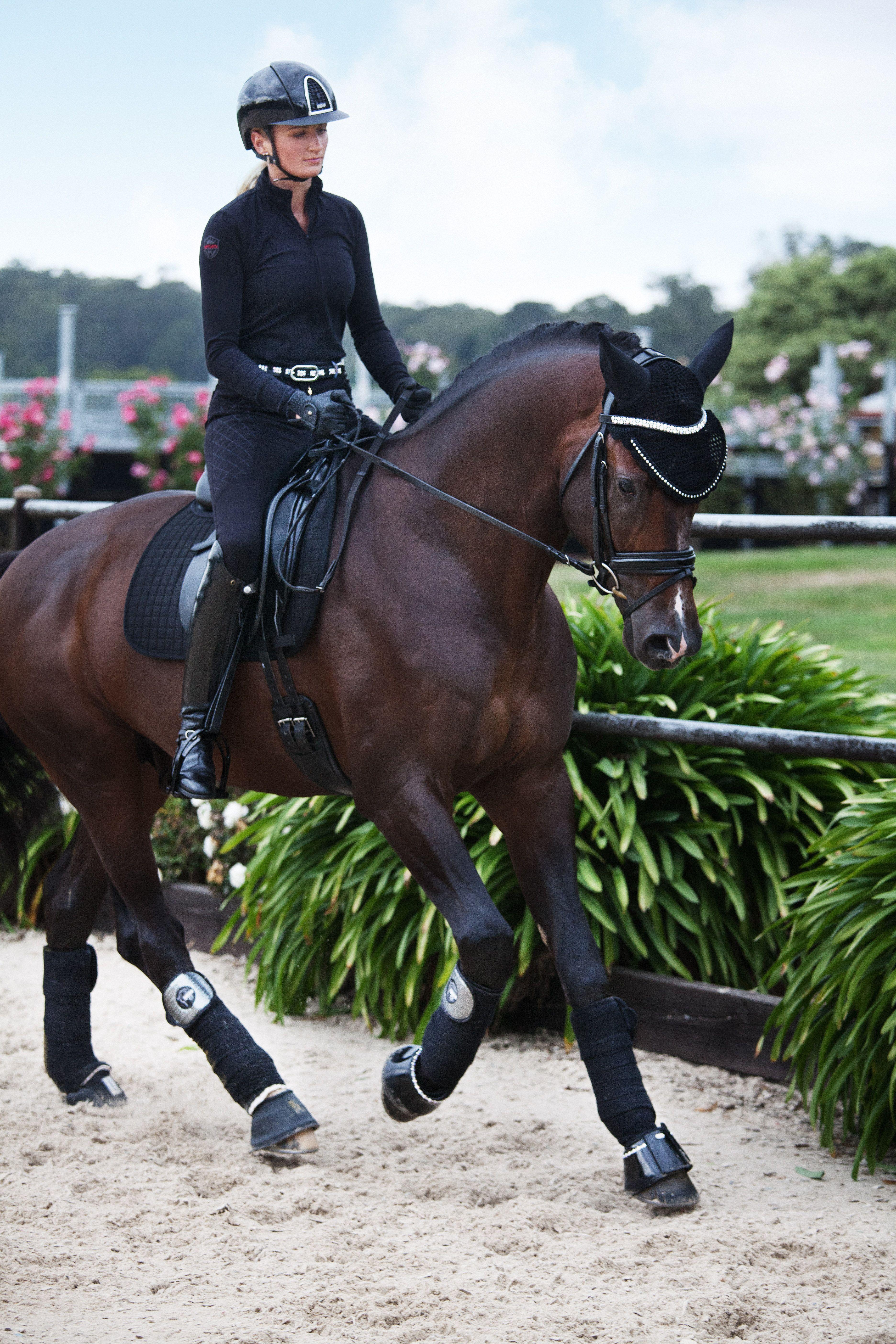 Janina Wears Kep Helmet In Cromo S Swarovski Black Black