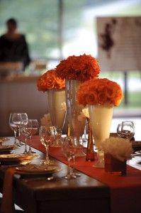 Eclatane Design, Beautiful Bloms Flowers - modern take on a head table