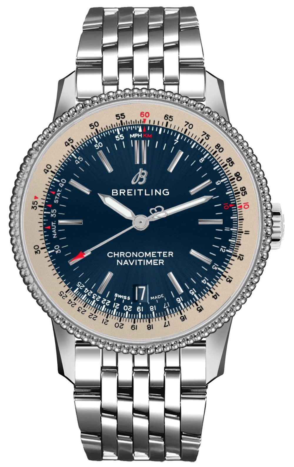 7d1f61baff9 Breitling Navitimer 1 Automatic 38 A17325211C1A1 Item    A17325211C1A1
