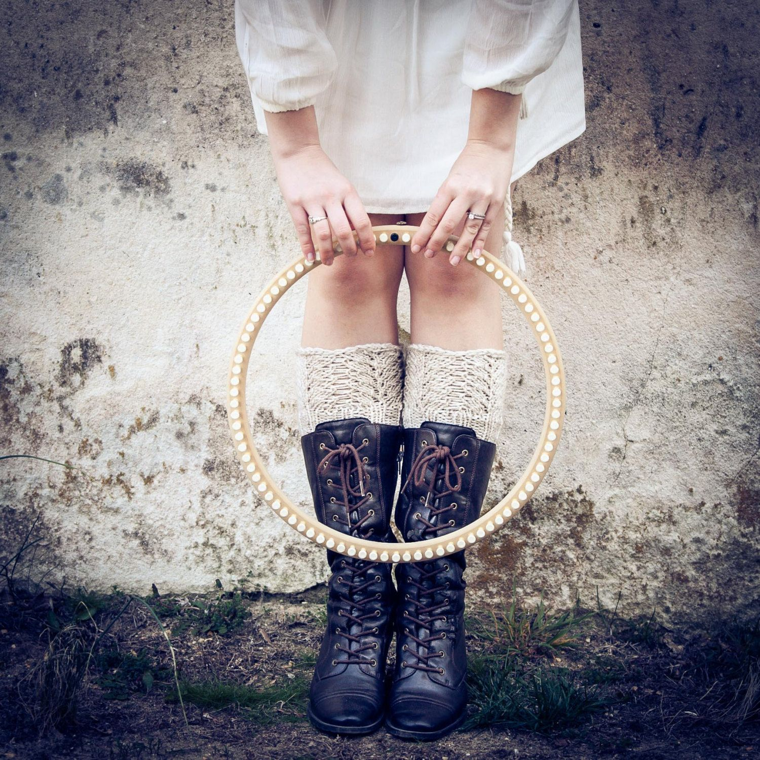 Loom Knit boot toppers boot cuffs Wristers Reading Mitts PATTERNS ...