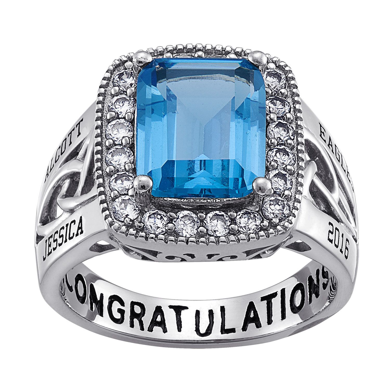 Celtic Birthstone Graduation Ring
