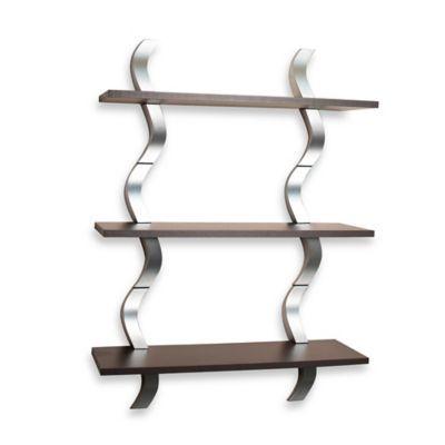60 10 Deep Waves 3 Level Shelving Bedbathandbeyond Com Wall Mounted Shelves Wall Shelf Decor Wooden Wall Shelves