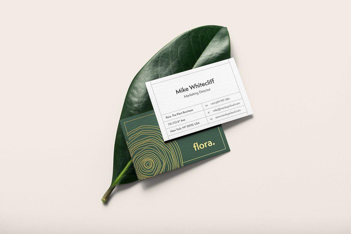 Flora Branding Mockup Business Card Mock Up Free Business Card Mockup Business Cards Mockup Psd