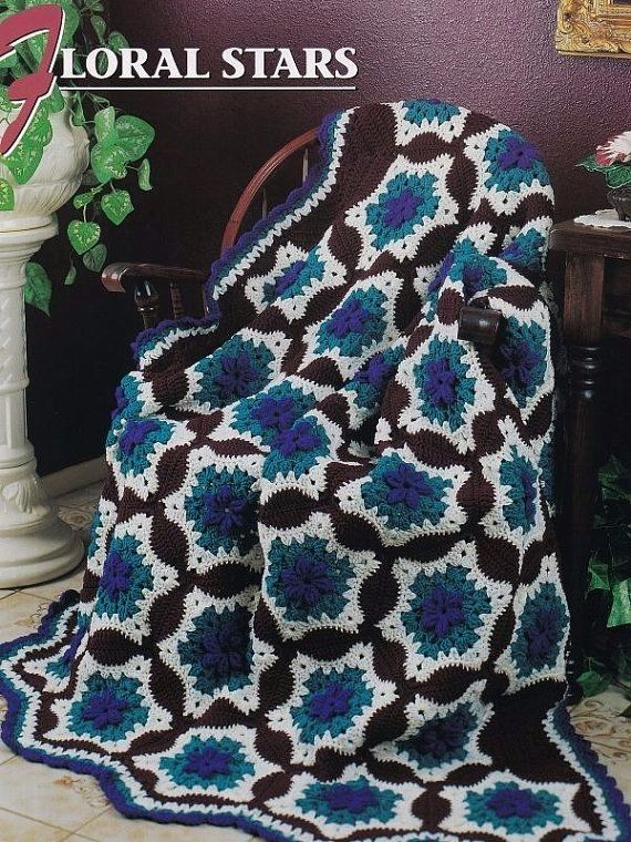 Floral Strips, Annie\'s Attic Crochet Afghan and Quilt Pattern Club ...