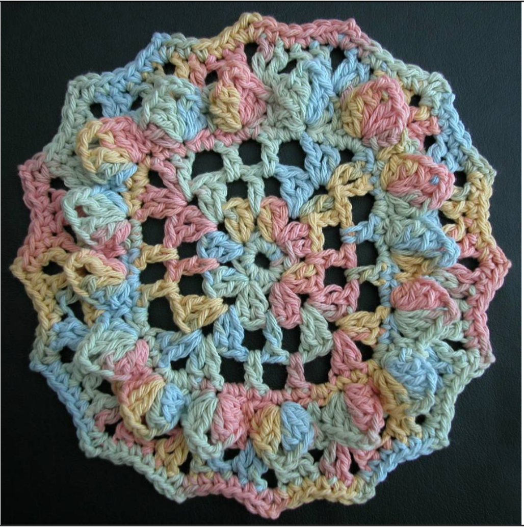 Free crochet dishcloth pattern: Sunshine by Drew Emborsky, aka The ...