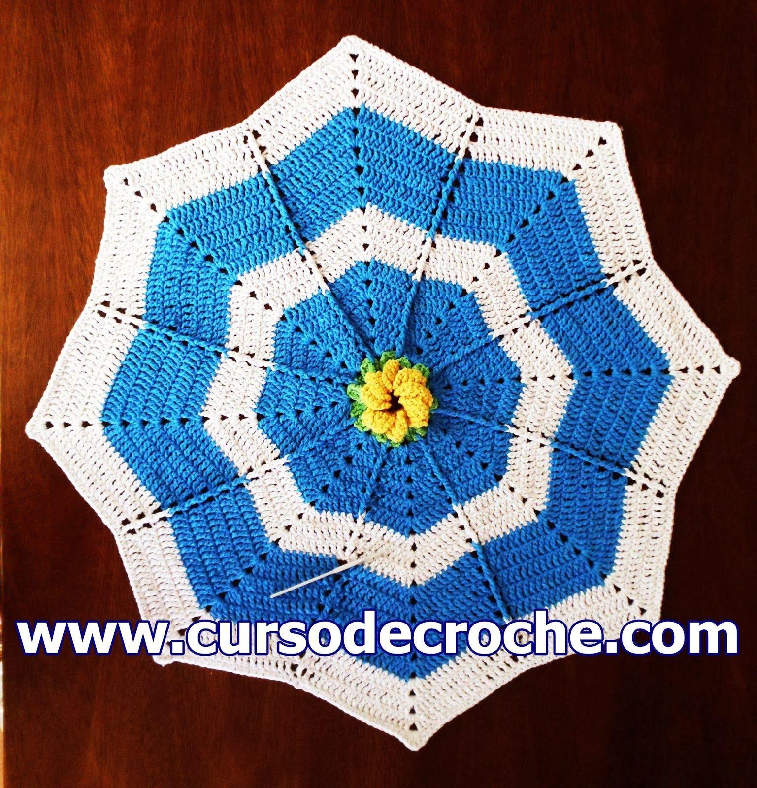 Edinir croch tapete em croch apolo estrela floral for Clases de tapetes