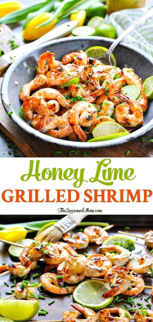 Grilled Honey Lime Shrimp #grilledshrimp