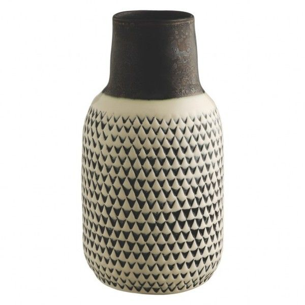 Trina Black And White Patterned Ceramic Vase 215 Cny Liked On