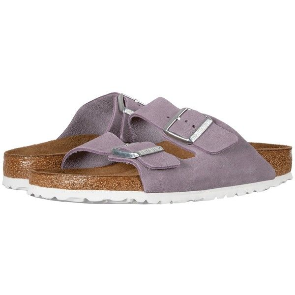 c0a001e4d Birkenstock Arizona Soft Footbed (Lavender Suede) Women s Shoes ( 135) ❤  liked on Polyvore featuring shoes