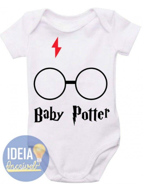 Body Infantil Baby Potter (Harry Potter) Enxoval De Bebe Menina e255f994bb9