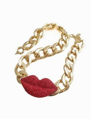 CIPUL Red Lip Necklace