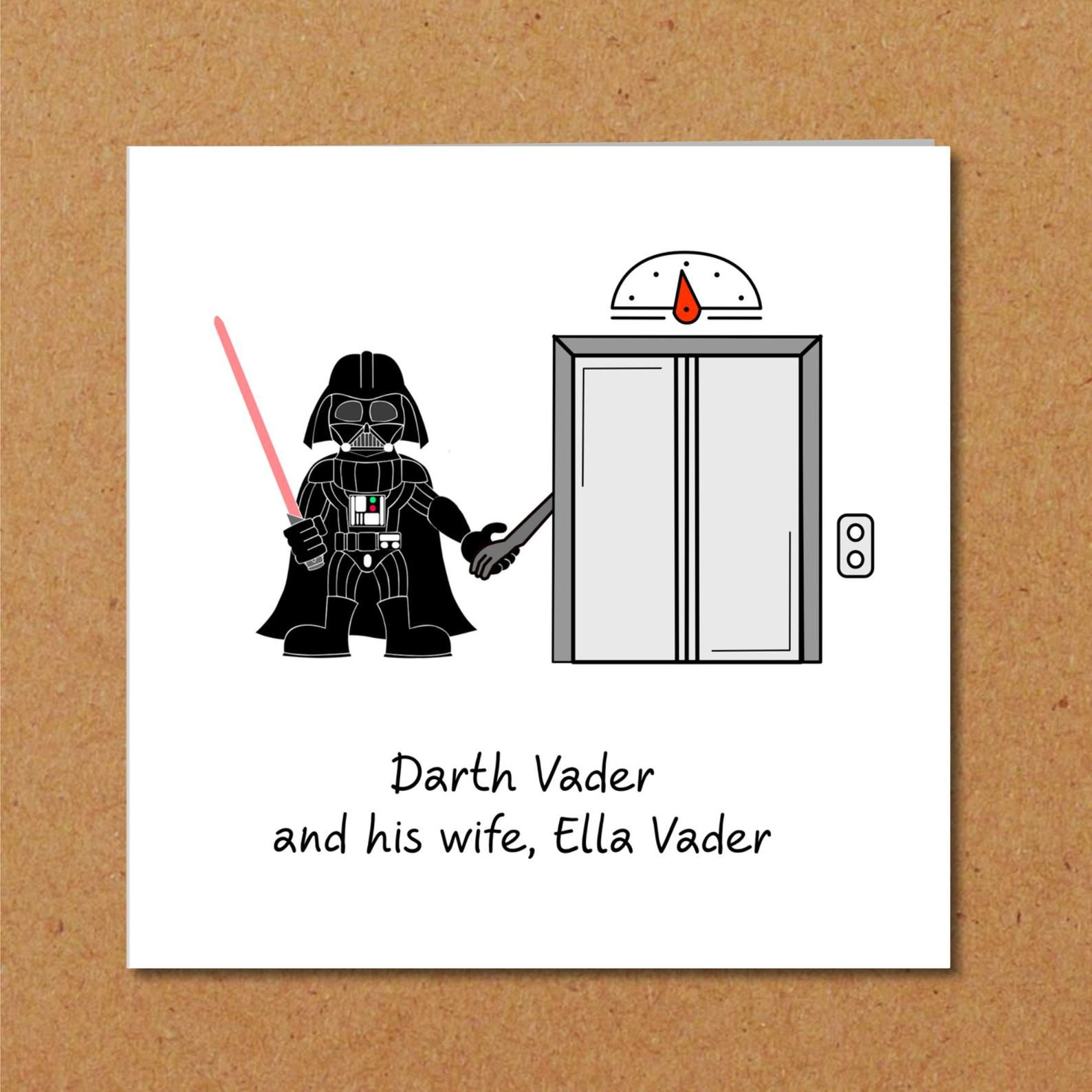 Star Wars Card Birthday Darth Vader Funny Humorous Humour