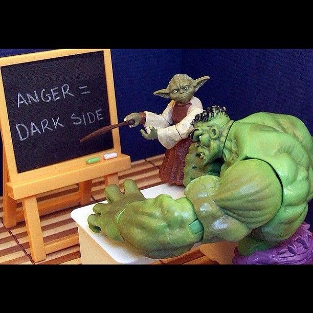 "Ryan says, ""It's Hulk & Yoda."""