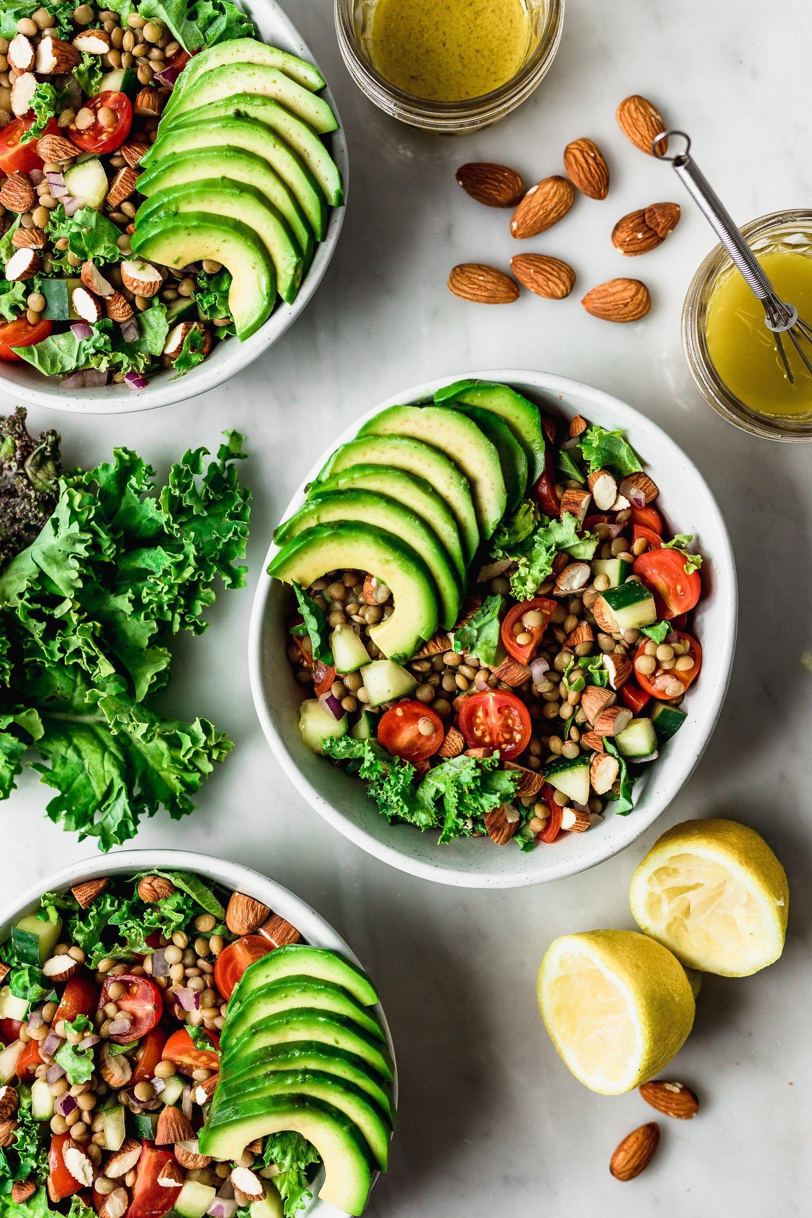 Ensalada De Lentejas Con Tomate Pepino Y Kale Cravings Journal Receta Ensalada De Lentejas Ensaladas Con Proteina Comida Saludable Ensaladas