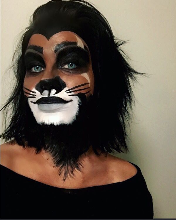 Scar lion king make up #makeup #lionking #disney #scarmakeuplionking
