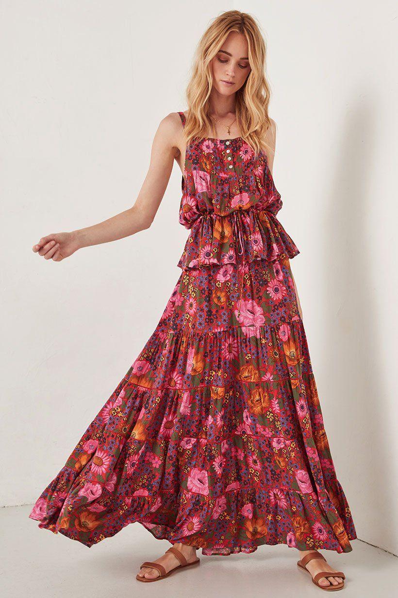 b069af0f87c Spell Designs Desert Daisy Maxi Skirt