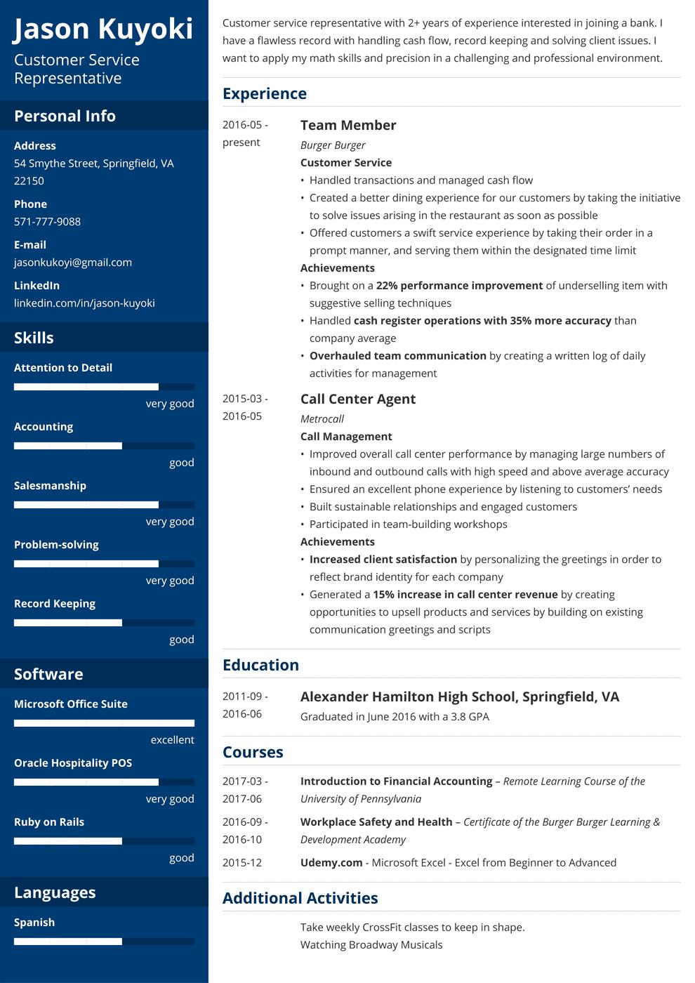 bank teller resume template cascade in 2020  resume