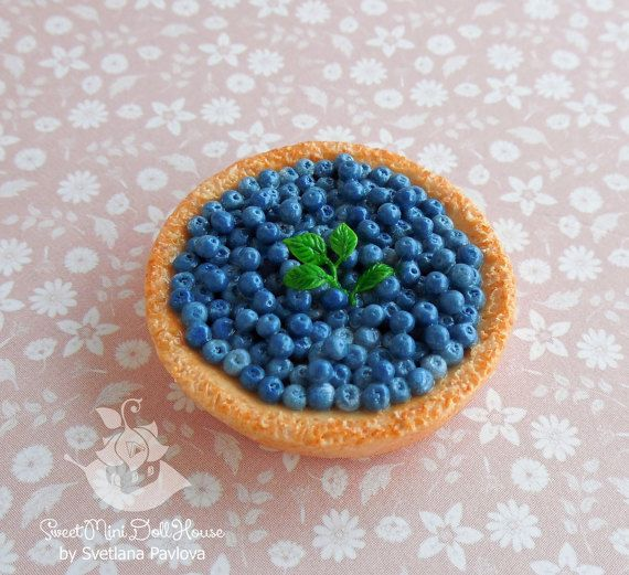 Miniature pie for dolls and doll houses. от SweetMiniDollHouse