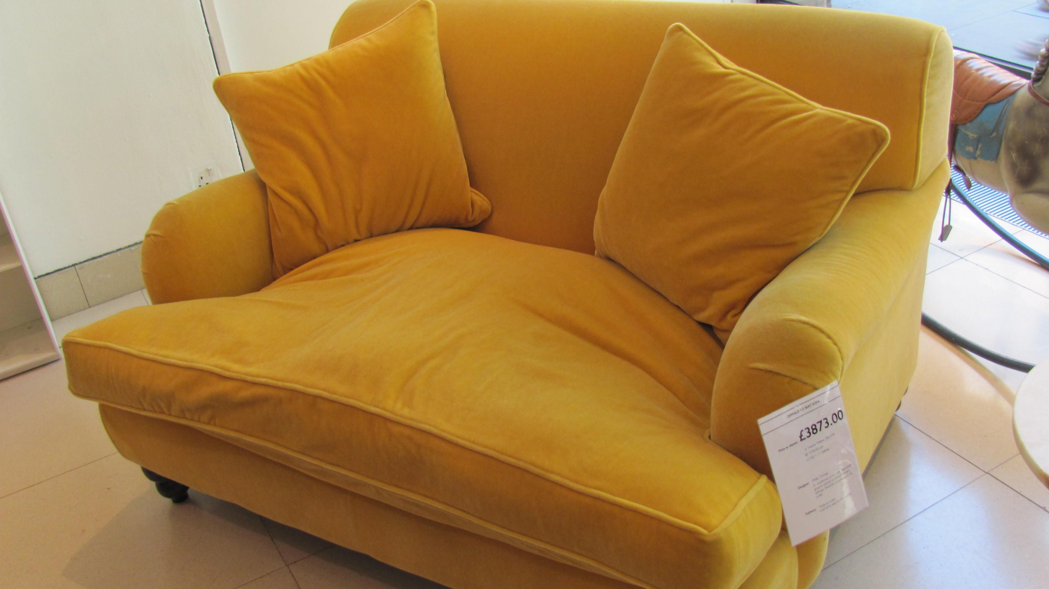 Yellow Chairs Living Room My Favorite Chair Ever Mustard Yellow Velvet Love Seat By Conran