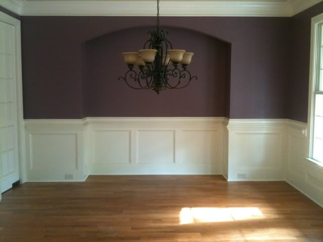 Red Wall Gold Ceiling Dining Rooms Anyone Have Photos Of Eggplant As In Dark Purple Living Es