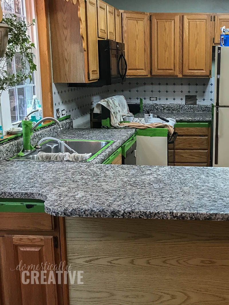 How To Update Kitchen Counters Without Replacing Them Domestically Creative