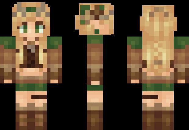 Elf Girl Minecraft Skin Minecraft Girl Skins Minecraft