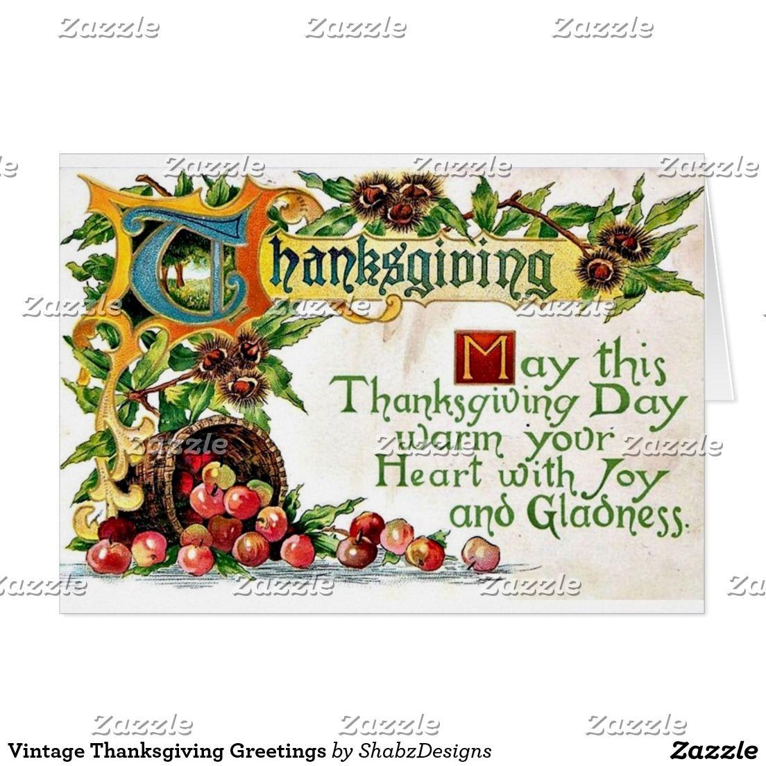 Vintage thanksgiving greetings card vintage thanksgiving vintage thanksgiving greetings m4hsunfo