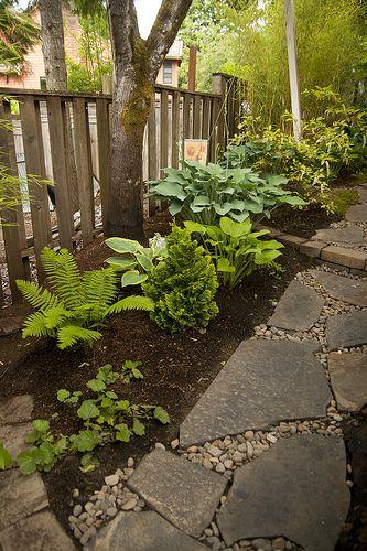 Irregular Paver + Stone Path Make For An Informal But Natural Look.