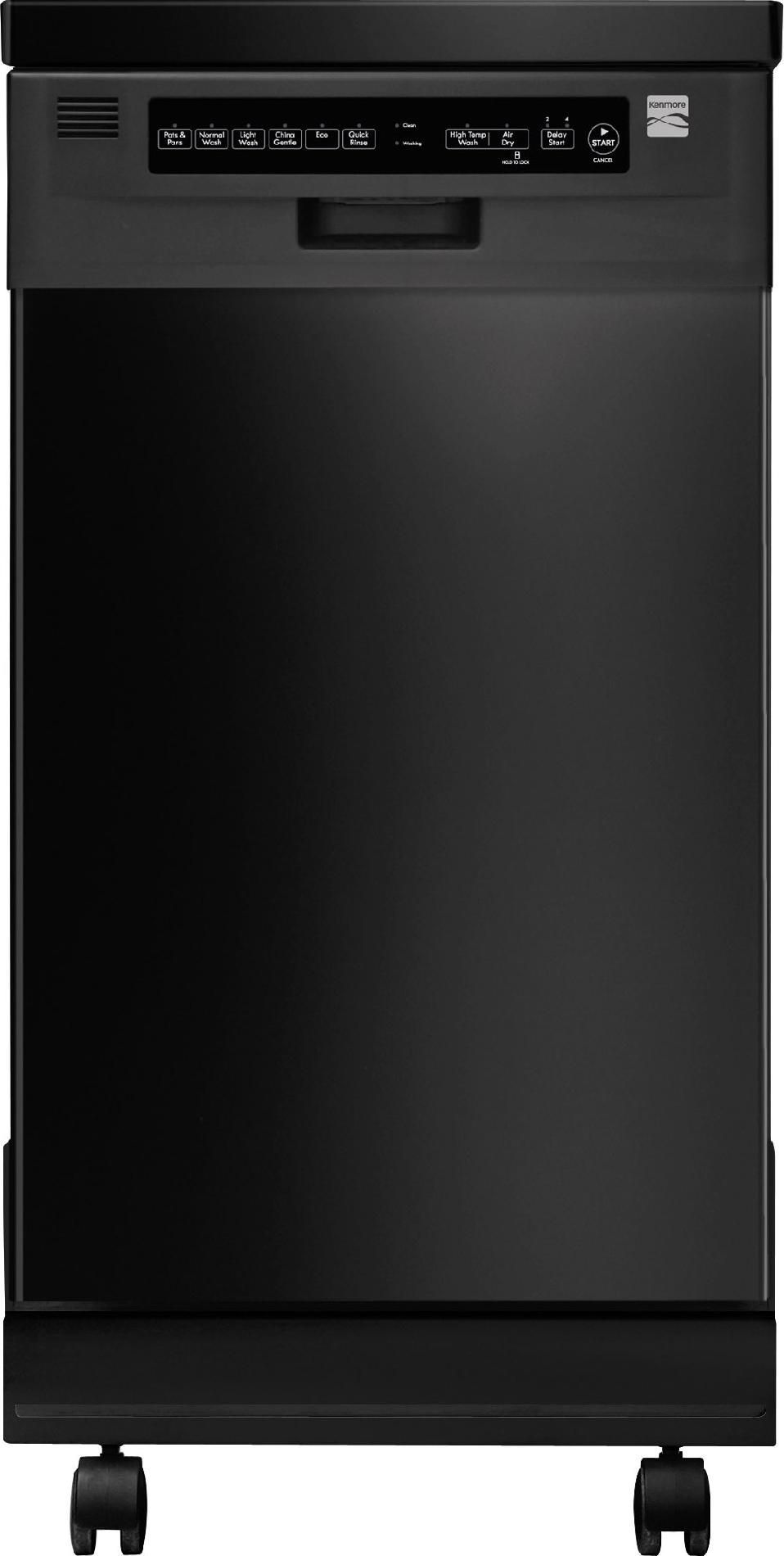 Kenmore Dishwasher Reviews >> Kenmore 14659 18 Portable Dishwasher Black In 2019