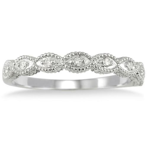 This is the one i actually did get. 1/10CT Vintage Diamond Wedding Stackable Ring 14K White Gold Antique Guard Band