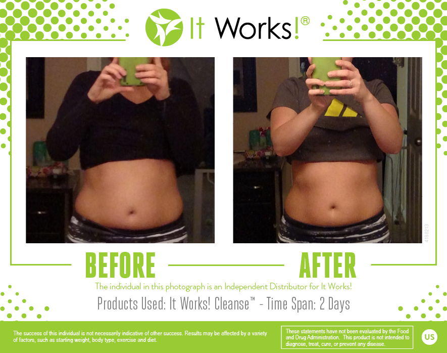 Awesome Results From 2 Days Using The It Works Cleanse Itworks