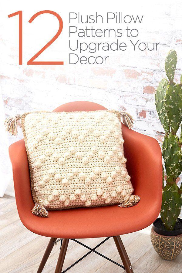 12 Plush Pillow Patterns to Upgrade your Decor   inne robótki ...