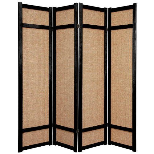 Oriental Furniture Inexpensive Office Partition 6 Feet Jute