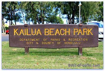Kailua Beach Park on Oahu