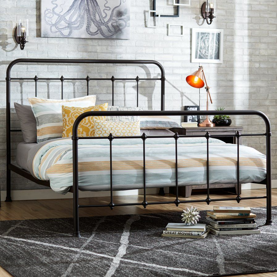 Charlton Home Forreston Four Poster Bed Headboard Footboard Panel Bed Antique Iron Beds
