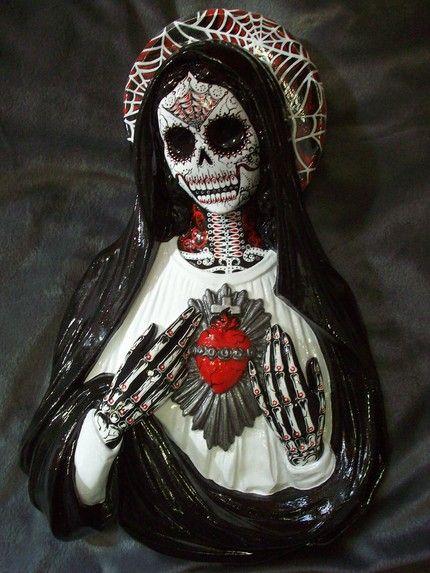 naked virgin mary skull