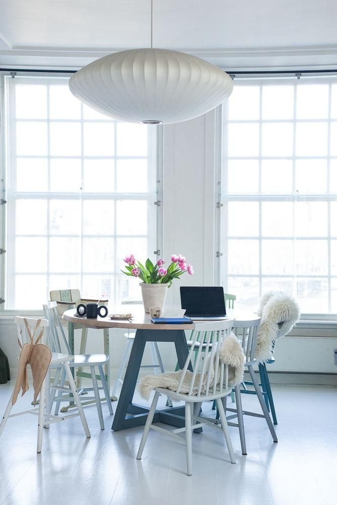 White Wooden Floors, the Nordic Choice Dining, Interiors and Room