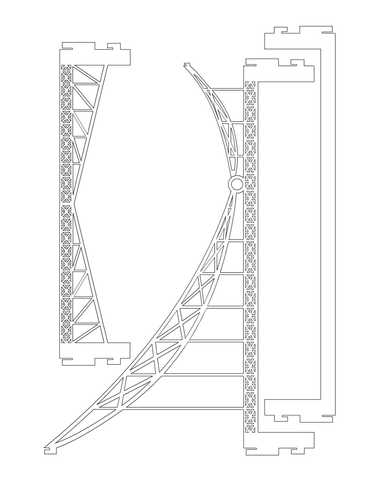 The London Tower Bridge Pop-up Origami Architecture Kirigami ...