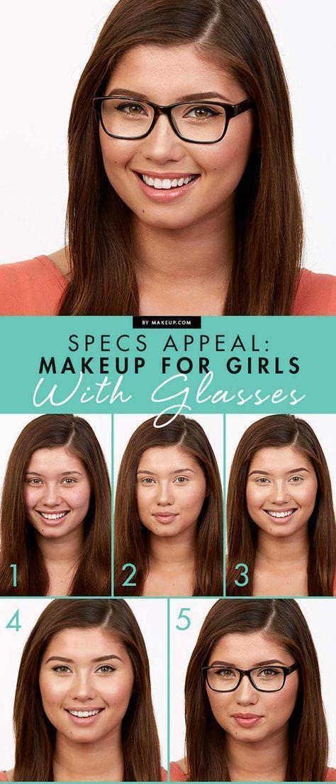 38 Makeup Tips For Glasses Face Shapes Eyeliner And Foundation