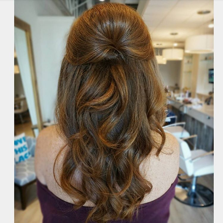 Love Half Up Hair With Plenty Of Volume By Sarah At The Blowout Bar In Columbus Ohio Hair Styles Prom Hairstyles For Long Hair Long Hair Styles